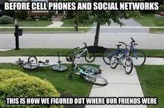Before cellphones, this is how we located our friends.
