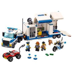 Mobile Command Center 60139 | City | Buy online at the Official LEGO® Shop CA Lego City Police, Lego Mini, Boutique Lego, Modele Lego, Mobile Command Center, Lego City Sets, Free Lego, Jail Cell, Cabins