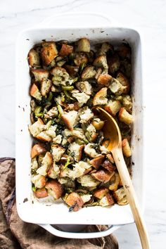 Vegetarian Stuffing with Broccoli Rabe
