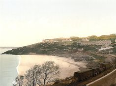 new to site St Ives Porthminster Beach, Cornwall St Ives Cornwall, Cornwall England, Library Of Congress, British Isles, Pilgrimage, Old Photos, The Past, Country Roads, Fine Art