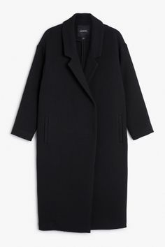 Monki Image 2 of Stitched coat  in Black