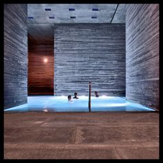 The main indoor pool at Therme Vals, Switzerland