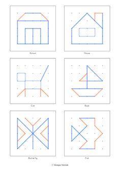 Colorful Tangrams: Geoboard - Geobord - Geobrett