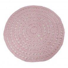 Tapis rond crochet Rose pâle Naco