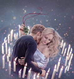 A bite under the mistletoe by just-orson on DeviantArt The Vampire Diaries, Paul Wesley Vampire Diaries, Vampire Diaries Poster, Vampire Diaries Wallpaper, Vampire Diaries Seasons, Vampire Diaries The Originals, Klaus And Caroline, Caroline Forbes, Candice King
