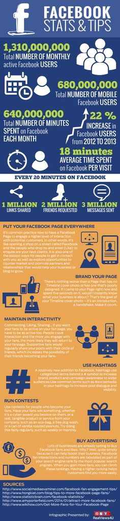 #Facebook Stats And Tip For Businesses 2014 - #infographic #socialmedia