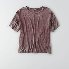 AEO Don't Ask Why Drapey T-Shirt ($30) ❤ liked on Polyvore featuring tops, t-shirts, red, crew neck t shirt, red striped tee, red tee, red stripe t shirt and striped crew neck t shirt