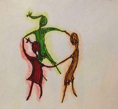 Ciranda - Moleskine - caneta fine line e lápis aquarela  #tapiocacomlimao #arte #ilustração #design #desenho