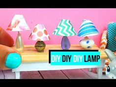 How to make a miniature lamp | Dollhouse DIY - YouTube