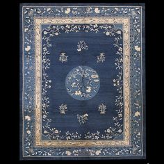 Stock Id: #17630  General Rug Type:      Chinese  Specific Rug Type:      Chinese - Peking  Circa: 1890  Color: Blue  Origin: China  Width: 9' 2'' ( 279.4 cm )  Length: 11' 6'' ( 350.5 cm )