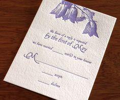 Marie letterpress wedding RSVP card design
