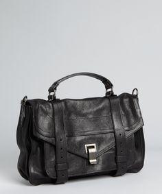 Proenza Schouler black leather 'PS 1' medium satchel   BLUEFLY up to 70% off designer brands