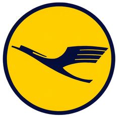 Lufthansa logo: One of the best known logos in airline industry, the encircled-stylized-crane-inflight logo was designed by German architect...