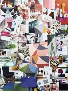 The inspiration board of Melbourne interior designer Brooke Pertzel. Photo by Eve Wilson for thedesignfiles.net