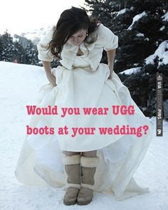 Would You Wear UGG Boots At Your Wedding? Join the discussion here >> | CHECK OUT MORE IDEAS AT WEDDINGPINS.NET | #weddings #weddinginspiration #inspirational