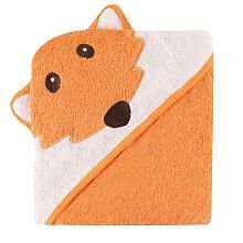 Luvable Friends Animal Face Hooded Terry Towel - Fox