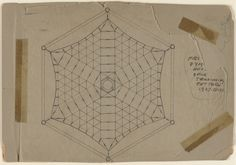 R. Buckminster Fuller. First Dymaxion House Deck-Tensioning Pattern, project, Plan. 1927-29