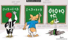 Charge do Dum (Zona do Agrião) sobre a situação dos clubes mineiros no #Brasileirão (10/09/2016). #Charge #Dum #CampeonatoBrasileiro #Atlético #América #Cruzeiro #Galo #HojeEmDia