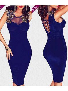 Rochie midi catifea albastra si voal Nina Bodycon Dress, Dresses, Fashion, Shopping, Vestidos, Moda, Body Con, Fashion Styles, Dress