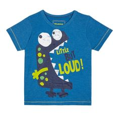 From bluezoo's fantastic range of children's clothing, this t-shirt will add a fun finish to a boy's casual wardrobe. Featuring a crew neck, it has a monster print on the front with a 'Little but loud' slogan and is made from a cotton rich blend.