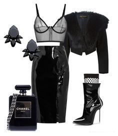 """Borderline Fine"" by roxysgotmoxy on Polyvore featuring Comme des Garçons, Topshop Unique, River Island, Persy and Chanel"