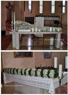 Fioreria Oltre/ Wedding ceremony/ Church wedding flowers/ Church altar decoration