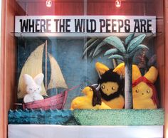 Where the Wild Peeps Are:  Inspiration for patrons to enter the library's Peeps diorama contest.