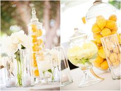 Lemon wedding decor. Love this!!