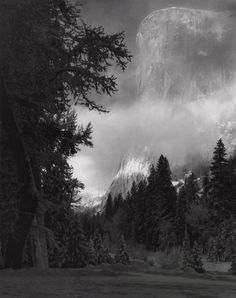 Ansel Adams, El Capitan, Sunrise, Winter, Yosemite National Park, CA, 1968