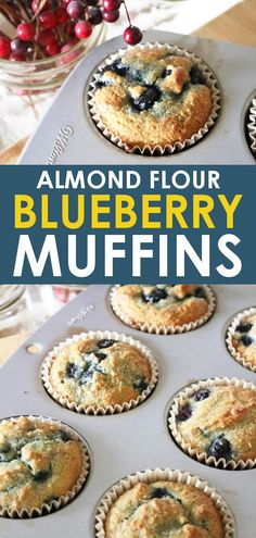 Paleo meals 186617978295652974 - These almond flour blueberry muffins are the only healthy blueberry muffins recipe you'll ever need! Made for GAPS, paleo, and keto compliance, these muffins are delicious any time of the day! Almond Flour Muffins, Almond Flour Recipes, Almond Meal, Desserts With Almond Flour, Coconut Flour, Almond Flour Baking, Recipes With Nut Flour, Almond Flour Cakes, Lemon Coconut