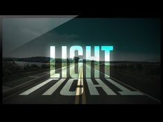 Photoshop Tutorial - Light Text Effect - Glowing Text Effect - YouTube