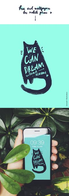 cool wallpaper for you mobile phone #illustration #wallpaper #cats #drawing