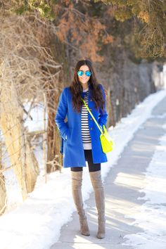Coat: J.Crew | Top: T by Alexander Wang | Leggings: J.Crew (maternity version here) | Boots:...