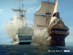 Ship fight. Black Sails. Starz