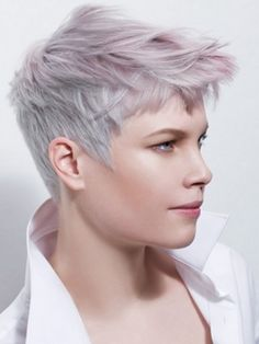 super short, purple grey shade hairstyles