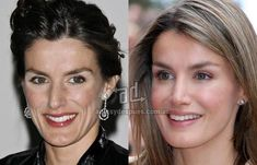 Risultati immagini per letizia ortiz ugly Photoshop, Beauty Makeover, Celebrities Before And After, Celebrity Plastic Surgery, Cosmetic Procedures, Queen Letizia, Without Makeup, Hat Hairstyles, Royal Fashion