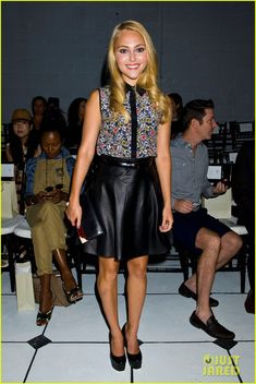 The Carrie Diaries star Anna Sophia Robb at the Jason Wu show at NYFW