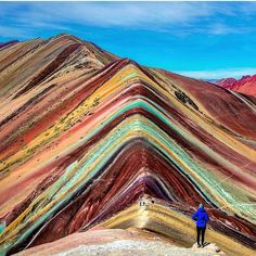 "Absolutely love this shot of ""Rainbow Mountain"" in Peru ❤️ @adventuresoflilnicki"