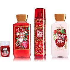 Bath Body Works Signature Collection Winter 2016 Winter Candy Apple... (575 UYU) ❤ liked on Polyvore featuring beauty products, bath & body products, body cleansers, makeup, beauty, accessories, filler, perfume, mist perfume and spray perfume