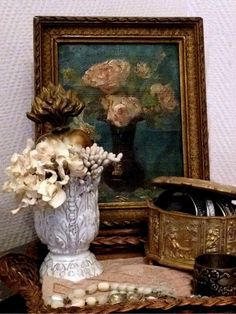 Brocante find ~ Vintage French painting and it's new home FleaingFrance