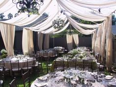 Tent Swagging   Town & Country Event Rentals ... for the receptions on the tennis court...