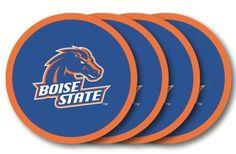 BOISE STATE BRONCOS  4 PACK VINYL COASTER SET FROM DUCKHOUSE SPORTS #BoiseStateBroncos