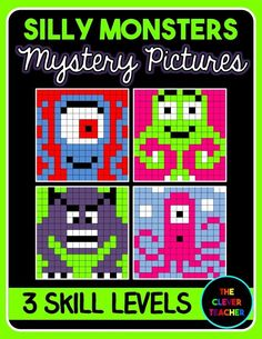 Differentiated Addition & Subtraction Mystery Pictures. This silly monsters pack is a FUN way for students to build math fact fluency. They love watching the picture appear before their eyes! Each of the four pictures comes with an easy, medium, and challenging level to differentiate for all your students!