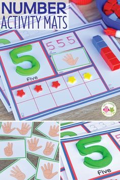 Use these number activity mats to help your kids in preschool, pre-k and kindergarten learn counting, number recognition, one-to-one correspondence, and number sense. Learning Numbers for Toddlers Number Recognition Activities, Number Sense Activities, Number Sense Kindergarten, Preschool Activities, Early Learning Activities, Ten Frame Activities, Learning Goals, Learning Numbers Preschool, Teaching Numbers