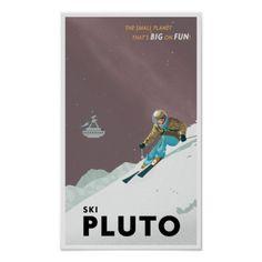 De Pluto van de ski Poster