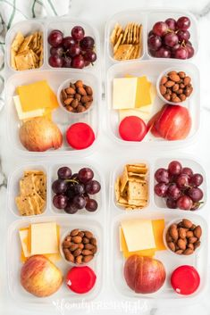 DIY Cheese and Crackers Lunchables - Family Fresh Meals Lunch Box Idea Healthy Homemade Snacks, Healthy Lunches For Kids, Snacks For Work, Lunch Snacks, Healthy Meal Prep, Kids Meals, Healthy Recipes, Diet Snacks, Protein Box