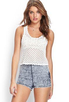Crochet Knit Tank Top | FOREVER21 #F21FreeSpirit #SummerForever