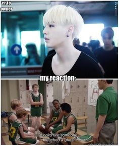 haha but it looks good on suga like crazy hot so its okay but it's so funny!