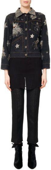 Isabel Marant Eloise Embellished & Embroidered Jean Jacket