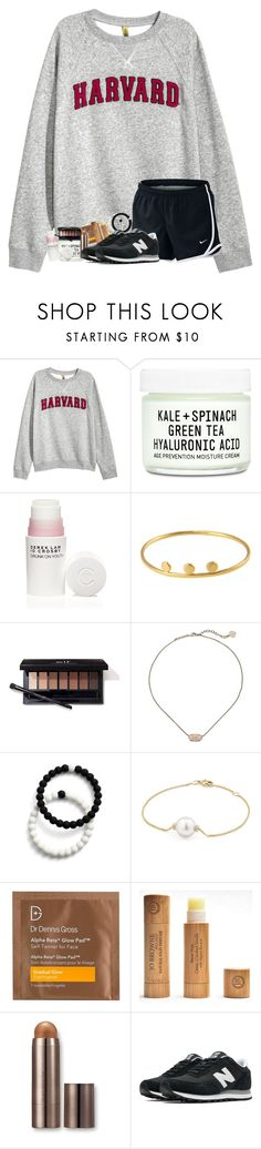 """lazy dayyz"" by legitmaddywill ❤ liked on Polyvore featuring H&M, NIKE, Youth To The People, 10 Crosby Derek Lam, Kendra Scott, Lokai, David Yurman, Dr. Dennis Gross Skincare, Laura Mercier and New Balance"